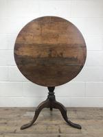 Antique 19th Century Welsh Oak Tilt Top Table (4 of 8)