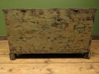 Large Antique Old Painted Green Distressed Pine Trunk Chest, Rustic Blanket Box (9 of 18)
