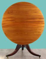 Fine quality Georgian mahogany tilt top dining table (4 of 9)