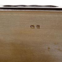 Adie Brothers Silver Cigar or Cigarette Box with a Hinged Crested Solid Lid (5 of 5)