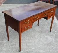 1920s Mahogany Desk with Inlay and 4 Drawers (3 of 3)
