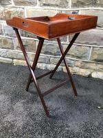 Antique Mahogany Butlers Tray on Stand (5 of 8)