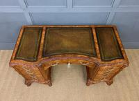 Burr Walnut Pedestal Desk by Maple and Co (3 of 18)