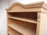 Cracking Large Antique Pine Arch Top Adjustable Bookshelf to wax / paint (6 of 9)