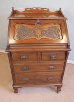 Antique Mahogany Small Bureau Writing Desk (8 of 11)