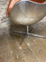 Aviator Leather Swivel Egg Chair (2 of 4)