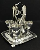 Victorian Silver Plated 4 Section Egg Epergne (4 of 5)