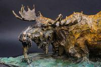 20th Century Bronze Elk (4 of 6)