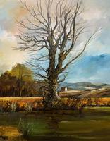 Large Magnificent Extensive Vintage Autumn Country Landscape Oil Painting (4 of 13)