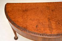Queen Anne Style Burr Walnut Console Table (7 of 8)