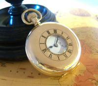 Pocket Watch 1937 Swiss 15 Jewel 9ct Rose Gold Filled Half Hunter FWO (6 of 12)