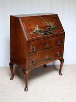 Walnut Chinoiserie Bureau (7 of 10)