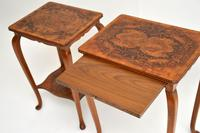 Pair of Matched Burr Walnut Edwardian Side Tables (6 of 10)