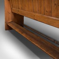 Antique Bench Seat, English, Pine, Pew, Ecclesiastic Taste, Victorian c.1900 (12 of 12)
