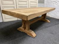 Large French Bleached Oak Farmhouse Dining Table (2 of 19)