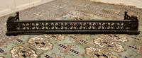 Victorian Arts & Crafts Cast Iron Fender Decorated with Sun Flowers