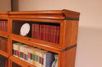 Pair Of Low Stacking Bookcases In Light Oak Globe Werknicke Late 19th Century (2 of 10)