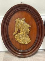 Pair of Interesting 19th Century Gilded Bronze Alexander The Great & Napoleon Cameo Plaques (9 of 29)