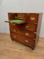 Antique Mahogany Campaign Military Chest Of Drawers (7 of 8)