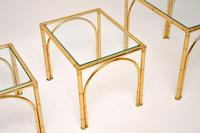Vintage Brass Faux Bamboo Nest of Tables (7 of 9)