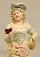 Antique Large Bisque Figurine of Young Girl (4 of 12)