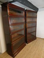 Pair of English Stamped Globe Wernicke Bookcases (6 of 9)