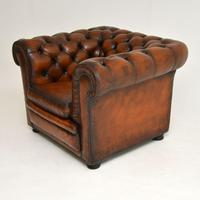 Antique Victorian Style Leather Chesterfield Armchair (7 of 8)