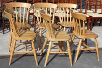 1960's Set 6 Beech Kitchen Chairs (2 of 3)