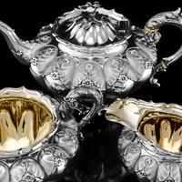Magnificent Georgian Solid Silver Tea Set / Service 3 Piece Set - Barnard 1835 (4 of 29)
