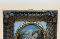 Fabulous early 1900s Italian Miniature Oil Portrait Painting - Stunning Frame!' (4 of 11)