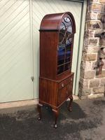 Antique Slim Figured Walnut Bookcase (2 of 12)