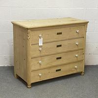 Old Czech Pine Chest of Drawers (3 of 4)