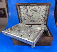 Victorian Walnut Jewellery Box with Inlay (10 of 15)