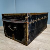 Victorian Leather & Brass Studded Trunk (8 of 14)