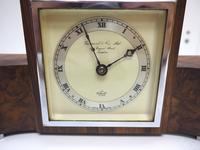 Perfect Burr Walnut Vintage Mantel Clock Art Deco Mantle Clock by Elliott of London (8 of 10)