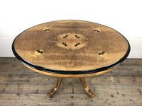 Victorian Walnut & Mixed Woods Inlaid Centre Table (3 of 11)
