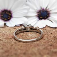 Art Deco Platinum Diamond Solitaire Ring, Antique Diamond Engagement Ring (4 of 8)