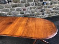 Antique 9ft Mahogany Twin Pillar Extending Dining Table (5 of 11)