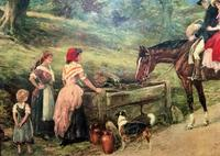 19thC English School - Horse & Hound Country landscape Oil Painting (4 of 11)