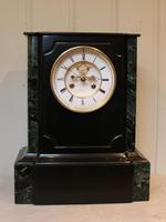 Mid 19th Century Polished Slate Visible Escapement Mantel Clock (16 of 16)