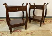 Vintage French Mahogany Bedside Tables (4 of 14)