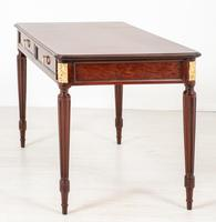 Very Good Quality French Mahogany 2 Drawer Side Table (7 of 11)