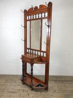 Antique Edwardian Mirror Back Hall Stand (6 of 10)