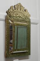 Napoleon III French Brass Cushion Mirror (2 of 7)