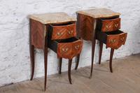 Very Nice Pair of Bow Front & Side Bedsides (4 of 10)
