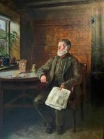 BAD NEWS FROM THE WAR! 'Walter Tomlinson' Portrait Oil Painting (5 of 16)