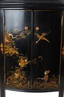 Chinoiserie Demi Lune 2 Door Side Cabinet c.1920 (7 of 9)