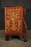 18th Century Dutch Marquetry Inlaid Walnut Bombe Shaped Chest (2 of 11)