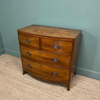 Small Bow Fronted Regency Antique Chest of Drawers (2 of 6)