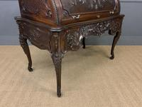 Maple and Co. Large Mahogany Cylinder Desk (24 of 25)
